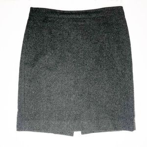 J. Crew gray wool pencil skirt 8
